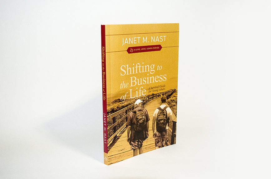 Shifting to the Business of Life book cover design by Nicte Creative Design.