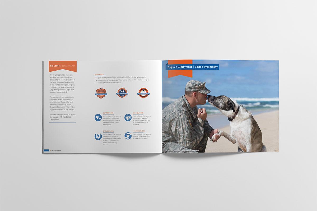 Dogs on Deployment, Dog logos, Pet branding, Pet logos, animal logos, service dog logo, dog trainer logo, dog illustration