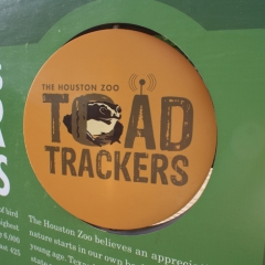 Houston Zoo toad trackers logo