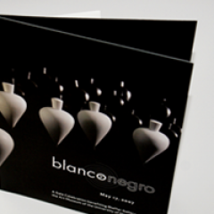 Blanco y Negro Gala Invitation