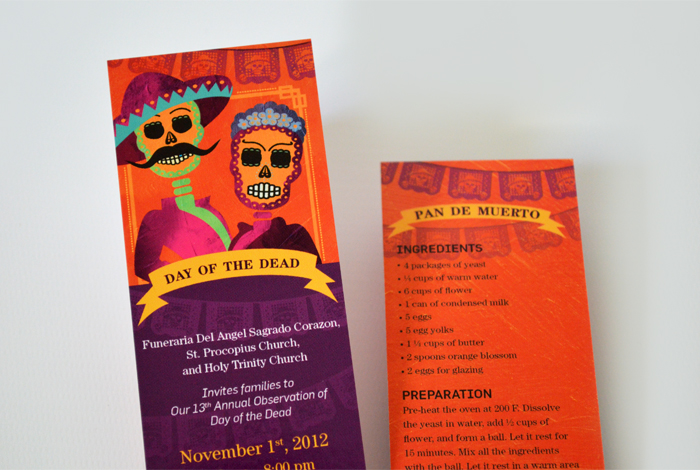 Dia De Los Muertos Event Marketing Campaign for Dignity Memorial. Designed by Nicte Creative Design.