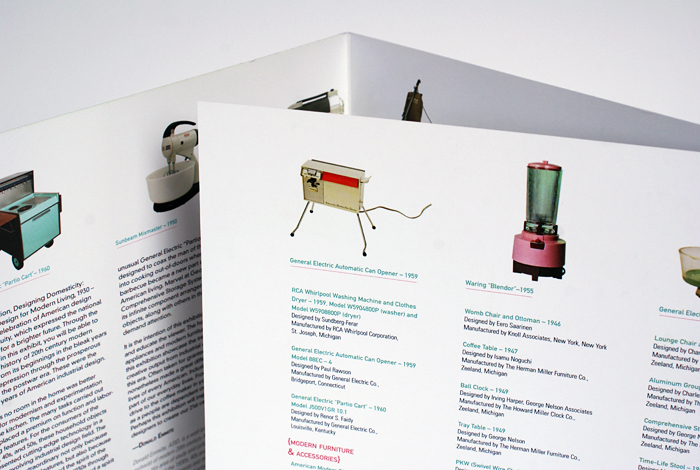 Designing Domesticity exhibit collateral. Designed by Nicte Creative Design.