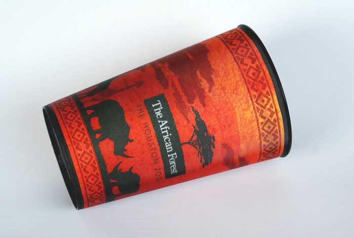 African Forest souvenir cup design, Houston Zoo, zoo graphics, zoo souvenir cup, lenticular cup design, zoo marketing