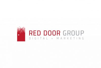 The Red Door Group Marketing + IT Logo, Red door logo, red door logo design