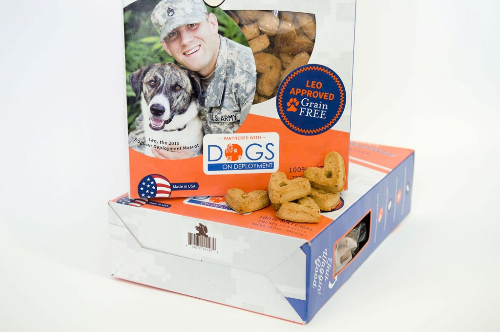 Operation Drool Overload, Dogs on Deployment, Dog treats, healthy dog treats, dog treat package design, packaging for pets, Lazy Dog Cookie Co.