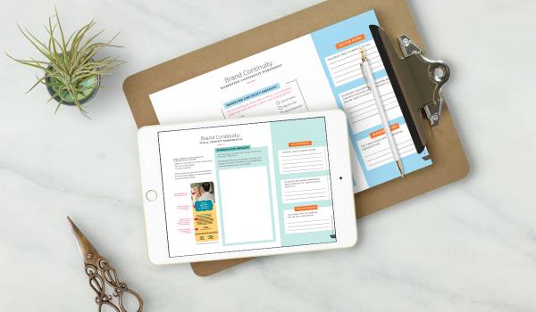 Brand Continuity, branding workbook, branding for small business, small business branding, brand continuity