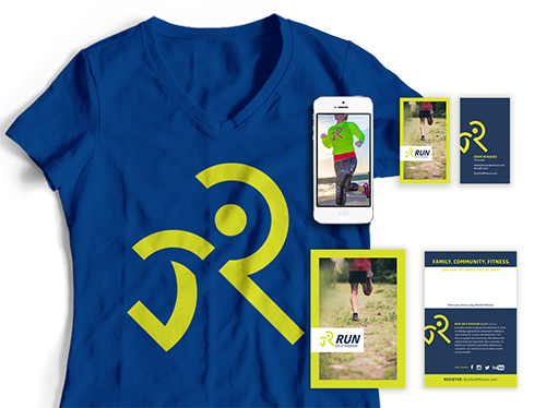 virtual run, running logo, athletic branding, fitness logo, fitness branding, fitness apparel