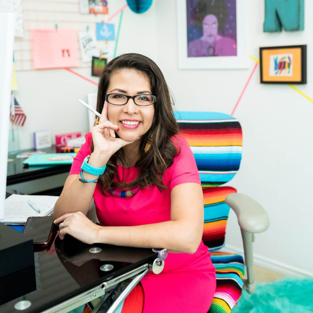 Nicte Cuevas in her office