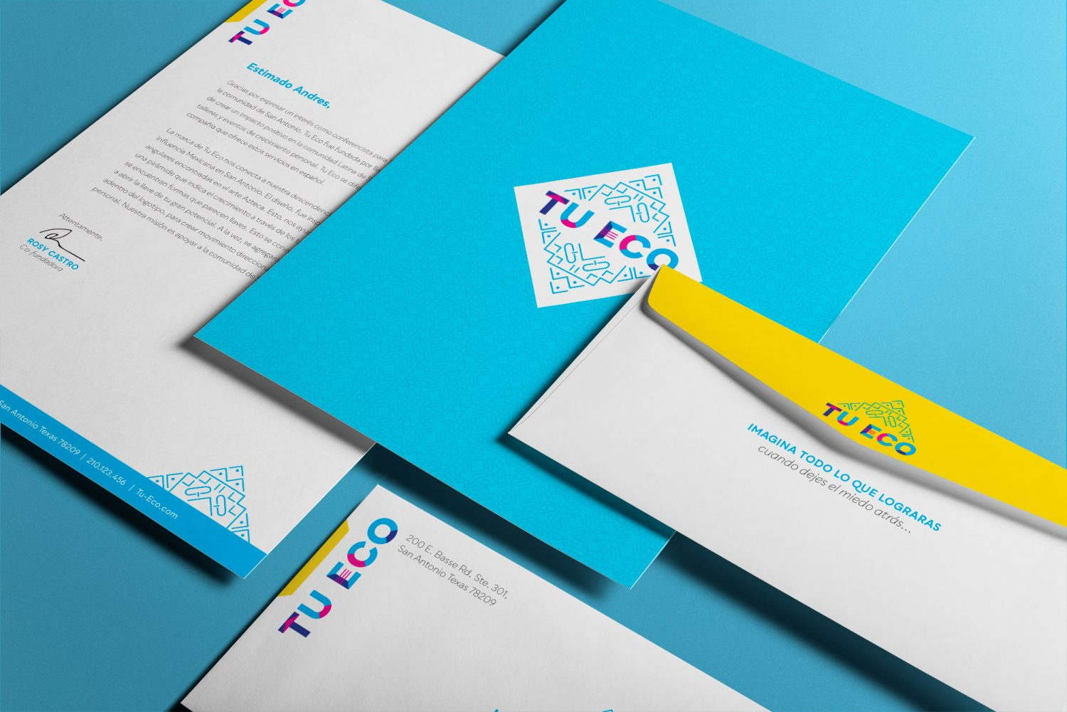 Brand identity design for Tu Eco