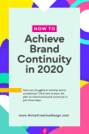Learn how to achieve brand continuity in 2020