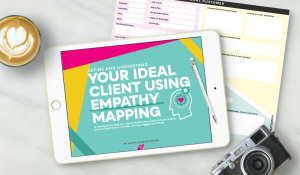 Define Your ideal client using Empathy Mapping Workbook by Nicte Creative Design