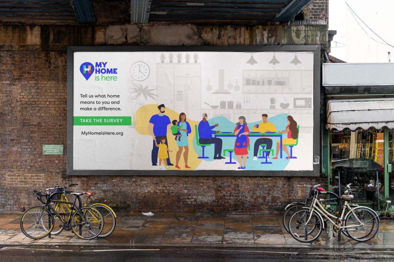 My Home is Here Branding Billboard By Nicte Creative Design