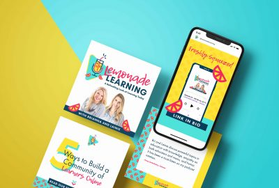 Lemonade Learning Adobe Spark Social Media templates by Nicte Creative Design