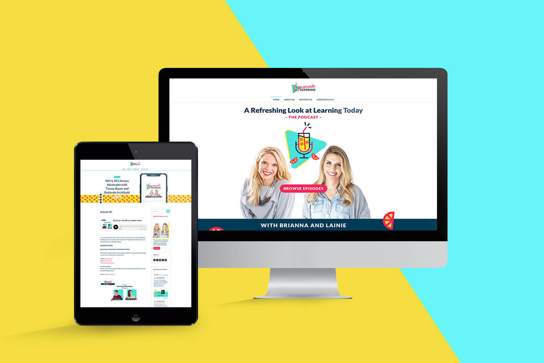 Lemonade Learning Website by Nicte Creative Design