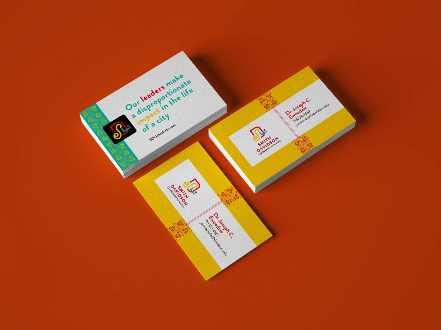 Smith Davidson Leadership Initiative branding and business card design by Nicte Creative Design