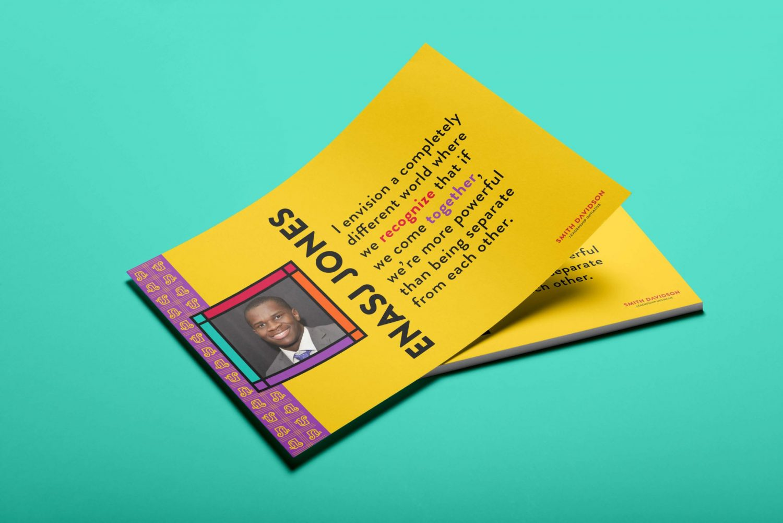 Smith Davidson Leadership Initiative branding postcard design by Nicte Creative Design