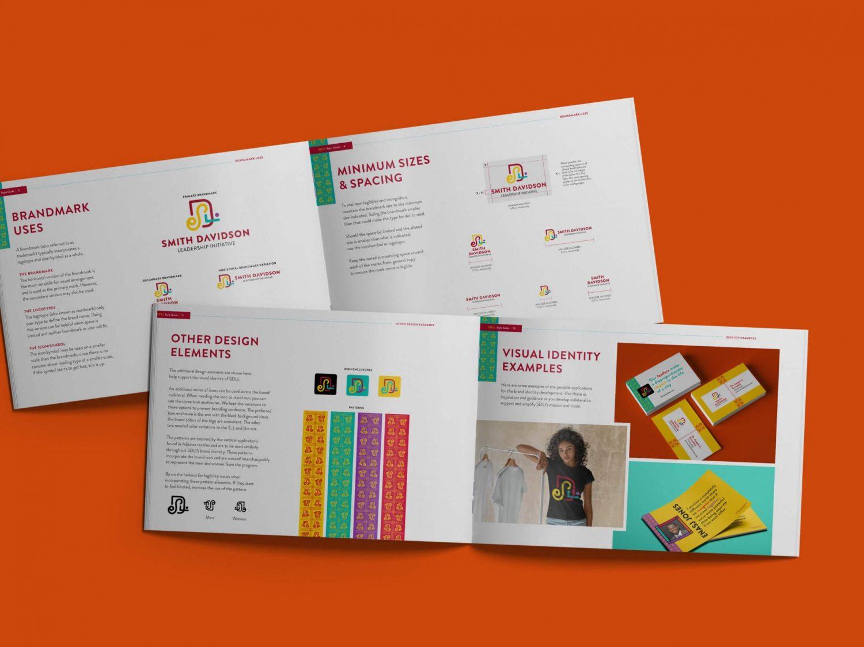 Smith Davidson Leadership Initiative branding styleguide design by Nicte Creative Design