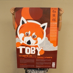 Toby the Red Panda at the Houston Zoo Education Collateral